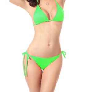 apple-green-halter-bikini-front